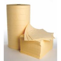 Yellow Haz-Mat Bonded Pads & Rolls