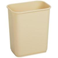 Medium Plastic Wastebasket (Beige)