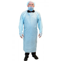 Blue Cast Polyethylene Gown (XL)