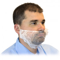 White Poly Beard Covers
