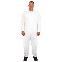 White Disposable Coveralls - 2XL