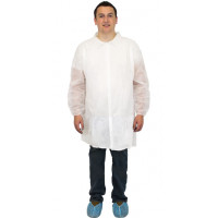 White Polypro Lab Coat - Large