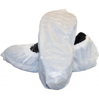 White Cast Poly Shoe Covers