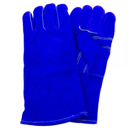 Blue Split Leather Kevlar Stitched Welder Gloves