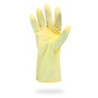 Yellow Latex Canners Gloves - Large