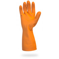 "28mil Orange 12"" Neoprene Latex Blend FL Glove - Medium"