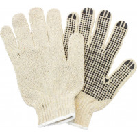 CFIA Cotton PVC Dot Gloves - Large