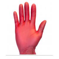 Red Powder Free Vinyl Gloves (3.2 Mil, S-XL)