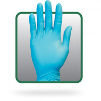 Synthetic Blue Vinyl PF Gloves - Large