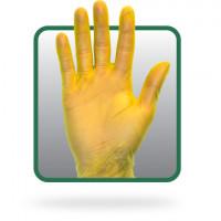 Yellow PF Vinyl Gloves - XL